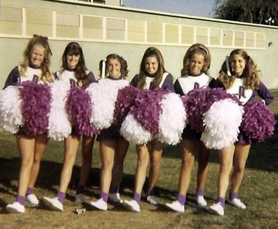 Norwalk High School song leaders, 1971–72, via  ozfan22's Flickr.