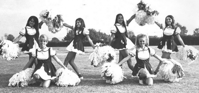 Norwalk High School cheerleaders, 1971, via  ozfan22's Flickr.