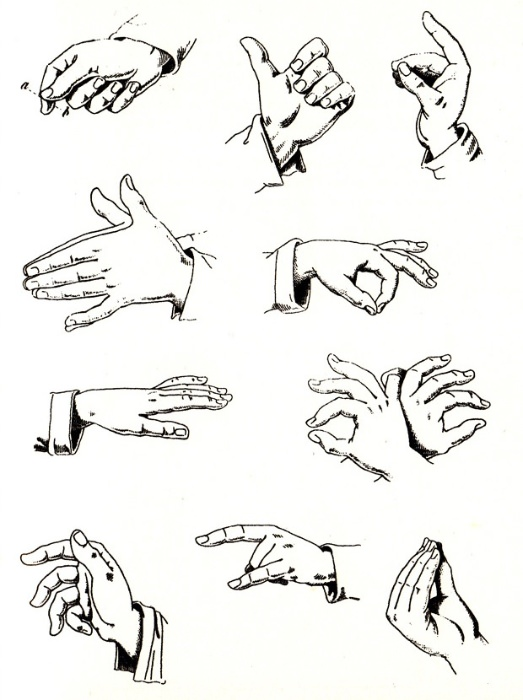 From the book Speak Italian: The Fine Art of the Gesture by Bruno Munari (1958).