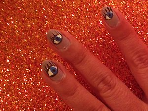 DIY Evil Eye Manicure