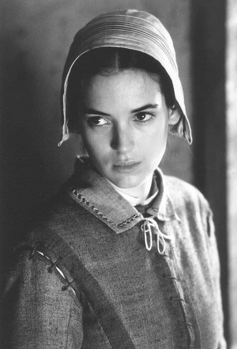 Winona Ryder as Abigail Willams in  The Crucible, 1996.
