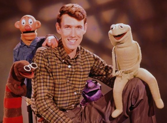 "The cast of ""Sam and Friends,"" Jim Henson's first TV show, including a proto–Kermit the Frog."