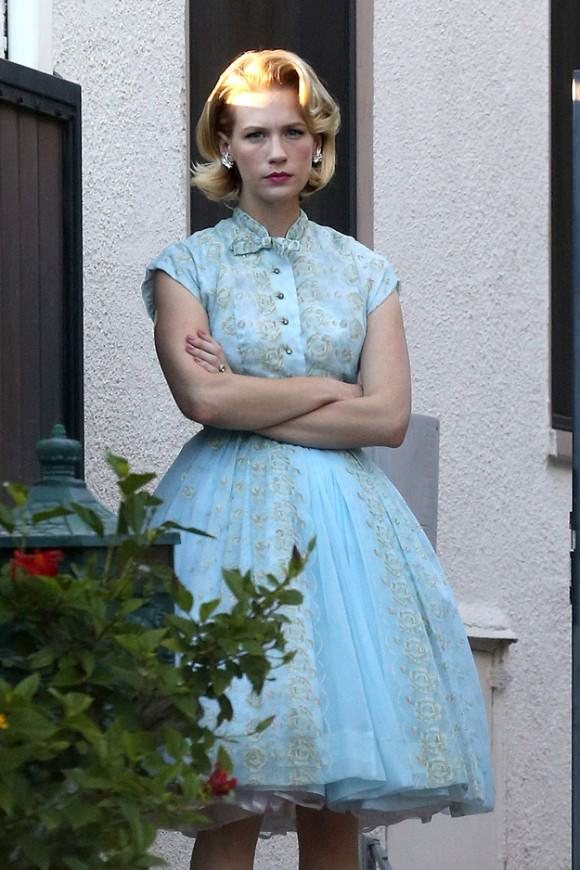 January Jones looking her part on Halloween. Photo via Vulture.