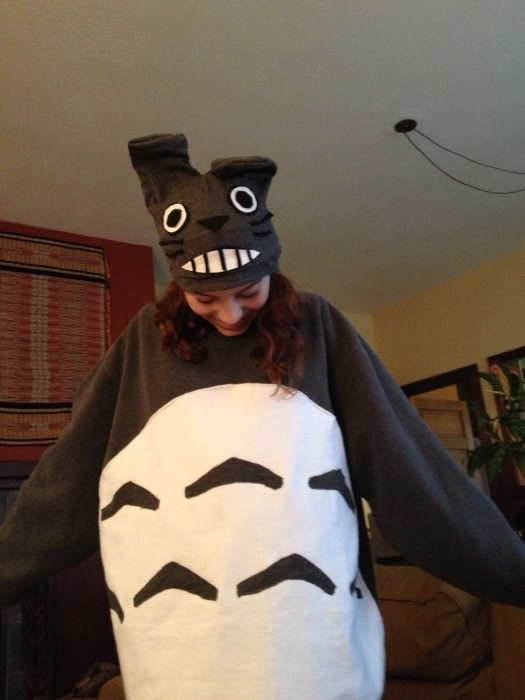 Sasha as Totoro. (Berkeley, California)