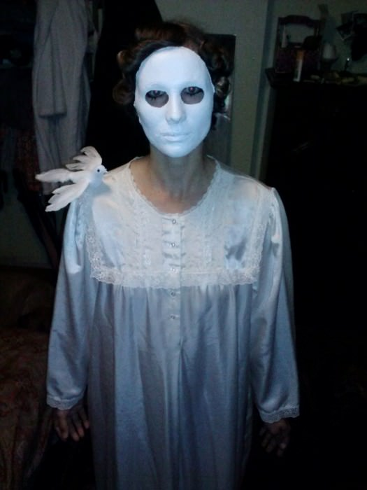 "Kristen as ""Eyes Without a Face."""