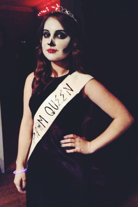 Amber as a skeleton prom queen. (Wisconsin)