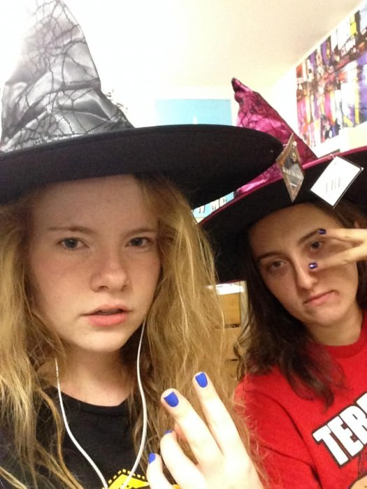 Julie and Lauren as witches. (Maryland)
