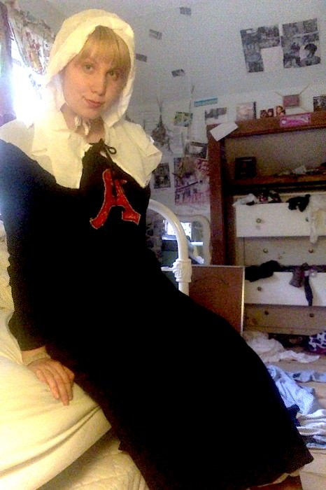 Rosalie as Hester Prynne. (Maine)