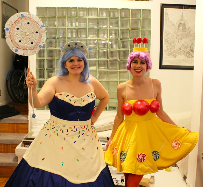 Mary (left) and Robin as Princess Lolly and Queen Frostine from Candyland. (New York City)