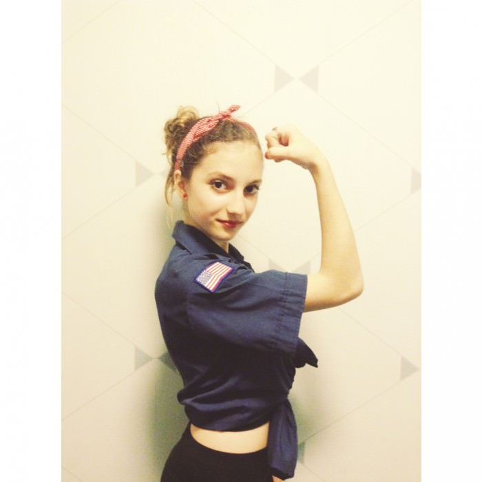...and Nina (New York City) as Rosie the Riveter.