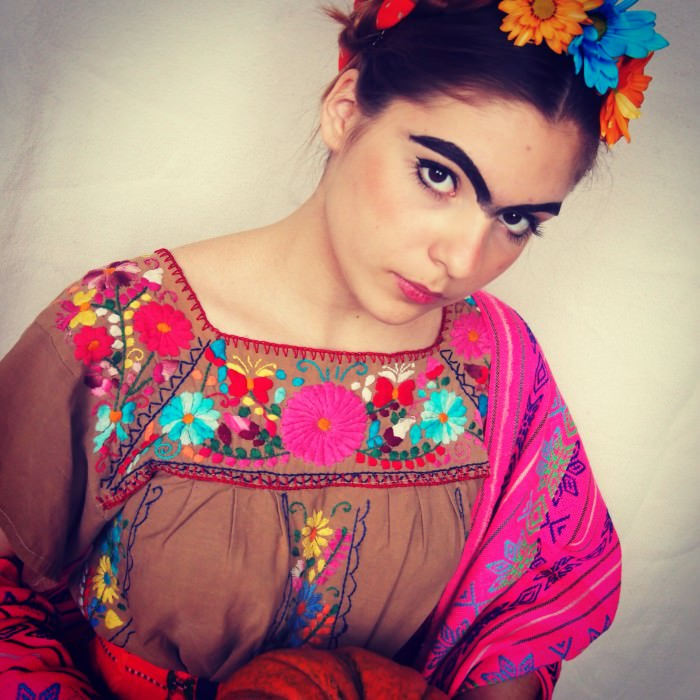 ...and Anastasia (New York City) as Frida Kahlo.
