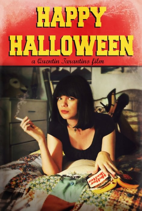 Megan as Mia Wallace.