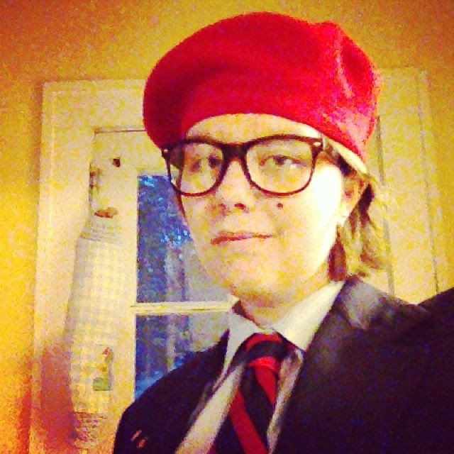 Sadie as Max Fischer from Rushmore. (Asheville, North Carolina)