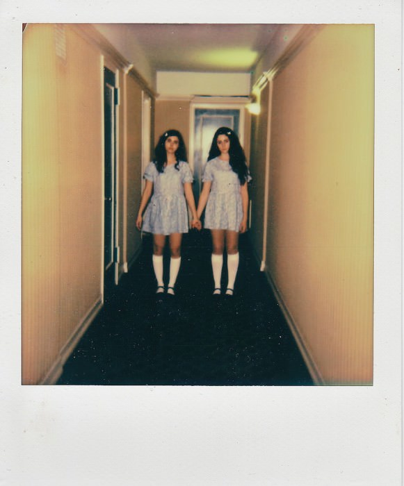 and Anny and Nina as the Grady twins from The Shining.