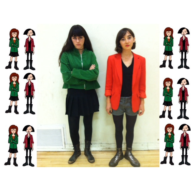 Sarah (left) and Miranda as Daria Morgendorffer and Jane Lane. (Los Angeles)