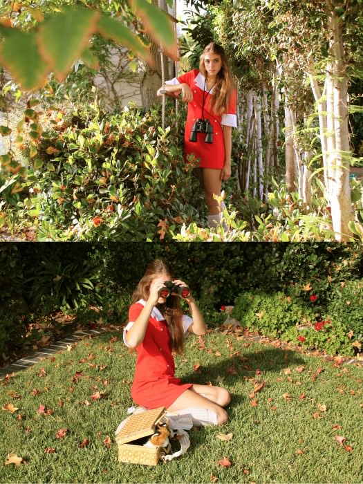 ...and Kayla (Laguna Beach, California) as Suzy Bishop from Moonrise Kingdom.