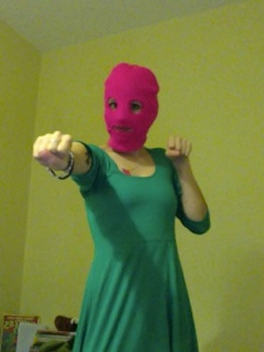 Hannah as a member of Pussy Riot. (Hertfordshire, England)
