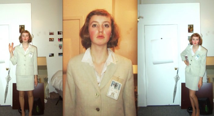 Sophie as Dana Scully from The X-Files. (Halifax, Nova Scotia)