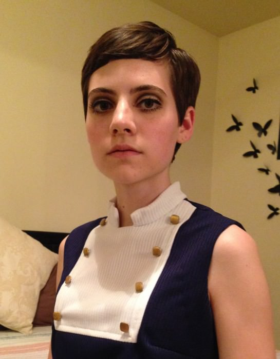 ...and Kelsey (Wichita, Kansas) as Twiggy.