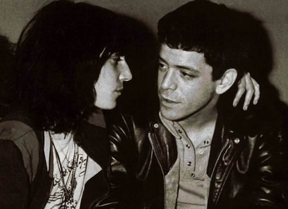 Patti Smith and her friend Lou Reed, c. 1975. Photo by Richard E. Aaron.