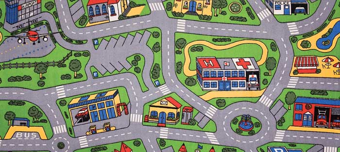 City Life play carpet by Learning Carpets.
