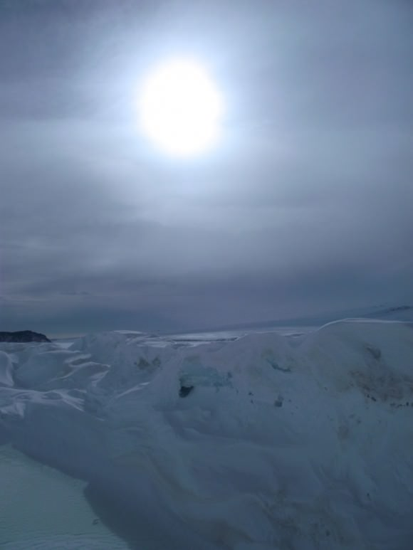 One view from Jynne Martin's residency in Antarctica.
