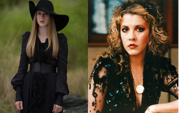 Taissa Farmiga, left, and Stevie Nicks, right.