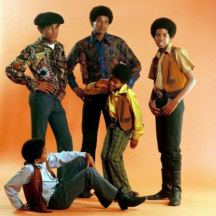 Jackson 5, circa 1970s. Via the Ghost of Electricity. Original source unknown.