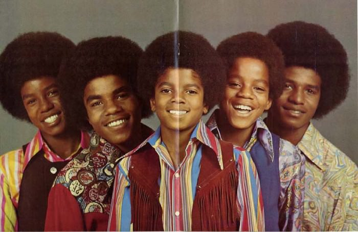 Jackson 5 centerfold in TcB! magazine, circa 1970s. Via J5 Collector.