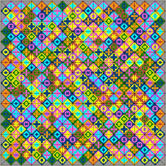 The Eternity II puzzle. Image via EII Solver.