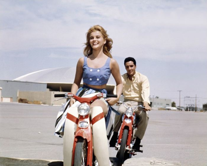 Movie still of Ann-Margret and Elvis Presley, Viva Las Vegas, 1964. Via Roger Ebert.