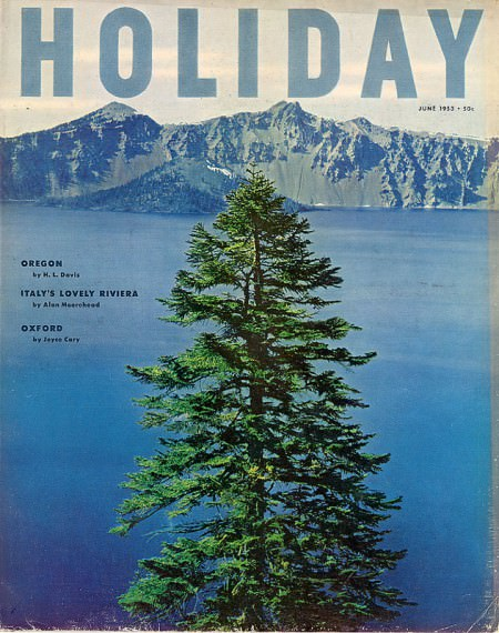 The cover of the June 1953 issue of Holiday magazine. Via Burning Settlers Cabin.