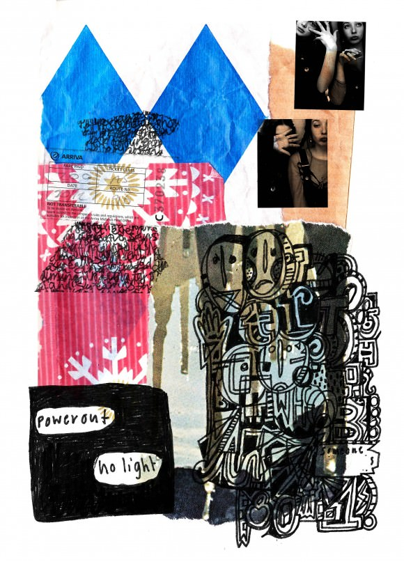 Caitlin's collaged diary.