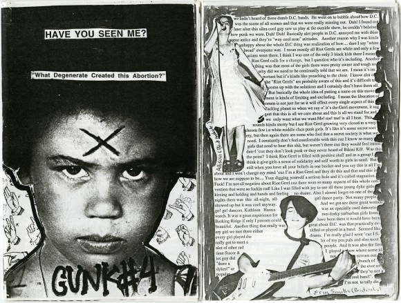 The fourth issue of , a zine by Ramdasha Bikceem, 1993. Courtesy of the Riot Grrrl Collection.