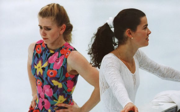 Tonya Harding and Nancy Kerrigan at the 1994 Winter Olympics. Image via Andreas Altwein/AP Images.