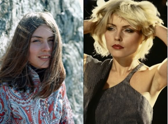 Debbie Harry of Blondie (of course) showcasing two distinctly different looks, via Michael Ochs Archive/Getty Images – Roberta Bayley/Redferns/Getty Images.