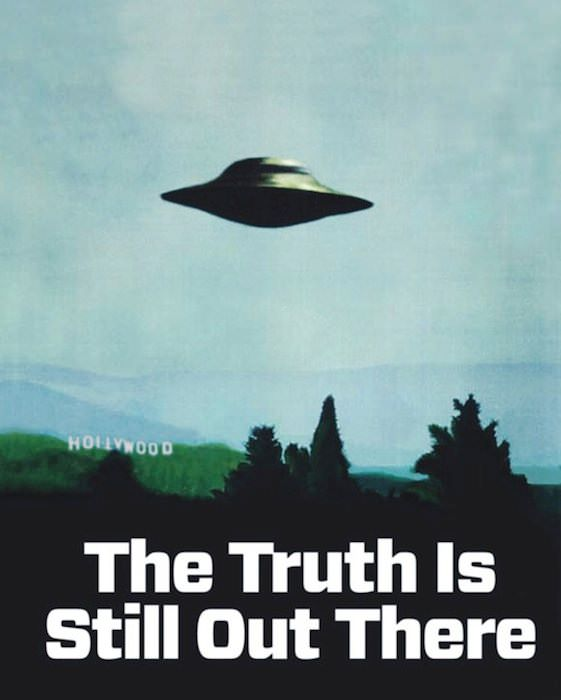 Poster from The X-Files, via Wired.