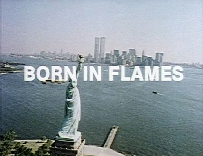 Still from the 1983 film Born in Flames by Lizzie Borden.