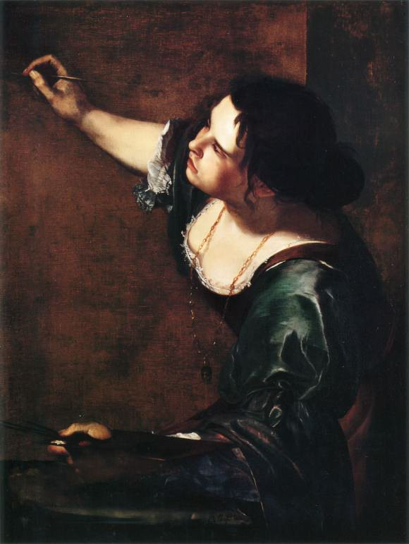 Self-Portrait as the Allegory of Painting, c. 1638, Artemisia Gentileschi.
