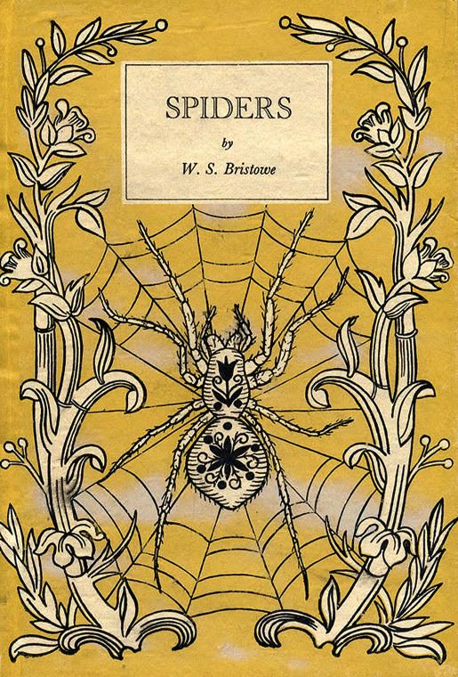 Cover of Spiders, 1947, by W.S. Bristowe. Via Julian Montague Projects.
