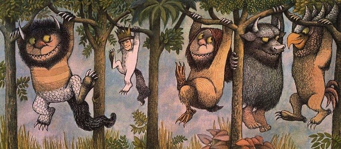 Illustration from Where the Wild Things Are by Maurice Sendak.