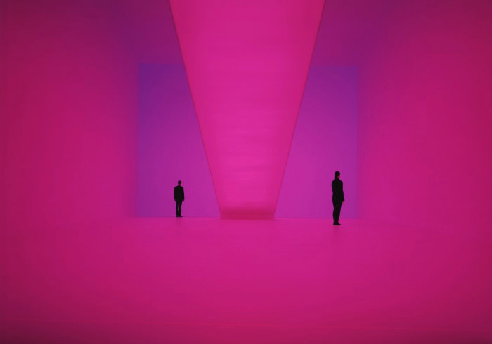 Light-projection installation by James Turrell.