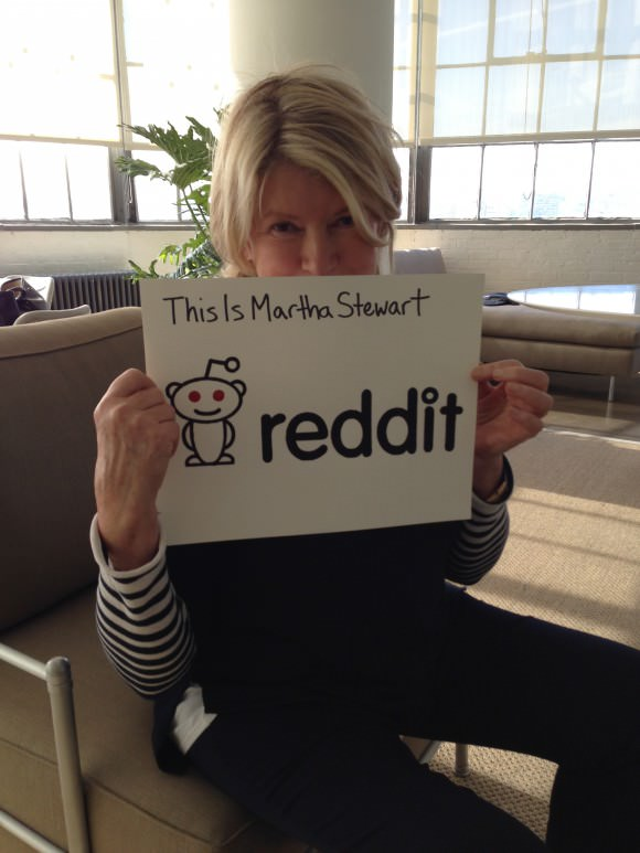 Proof that Martha Stewart is the best by way of Reddit.