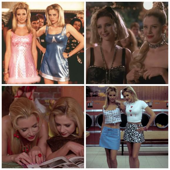 Stills from Romy and Michele's High School Reunion (1997).