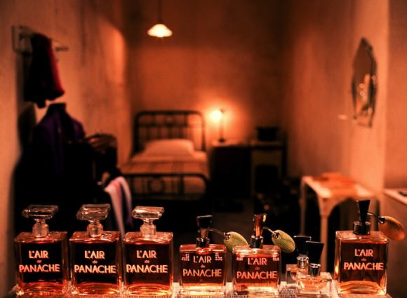 The gorgeous perfumes on display in Wes Anderson's latest movie, via Papermag.
