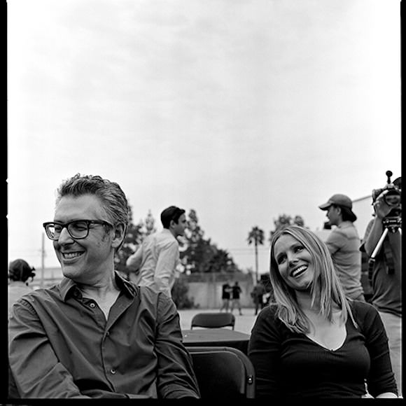 Ira Glass and Kristen Bell being cute as all get-out. Photo via This American Life.