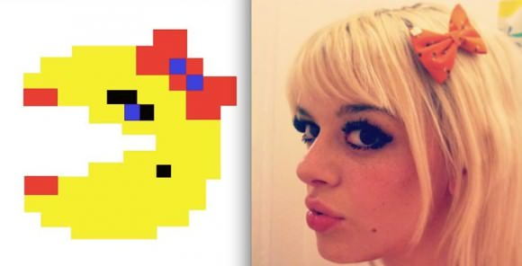 Left, Ms. Pac-Man. Right, Ms. Amy Rose.