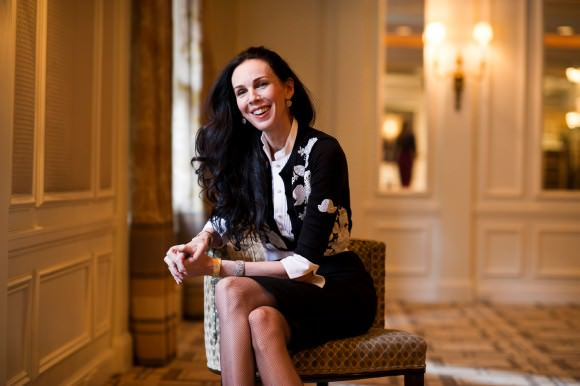 The radiant L'Wren Scott. Photo by Evan Sung for the New York Times.