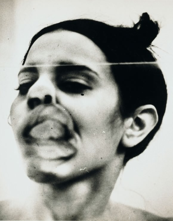 Ana Mendieta, Untitled (Glass on Body Imprints — Face), 1972. Photo via the New Inquiry.