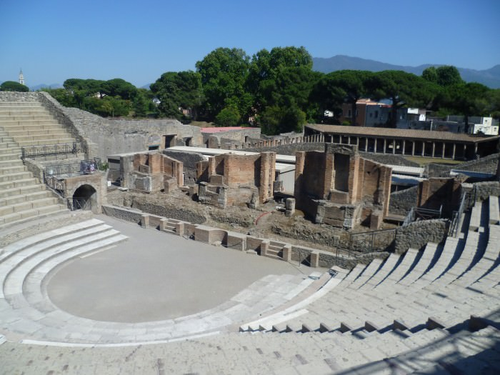 The theater at Pompeii.
